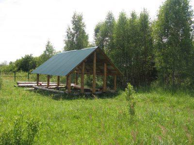 Палаточный лагерь - костровище
