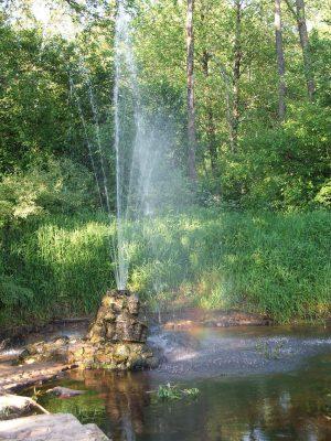 Природный фонтан в Судогде