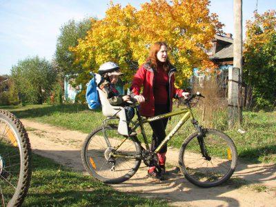 Дети в велопоходе